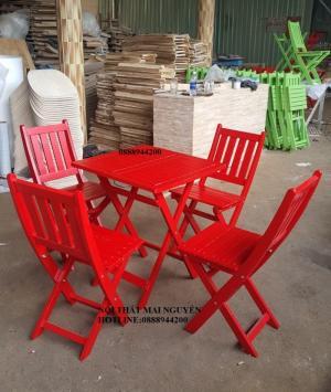 Thanh lý bàn ghế cafe giá rẻ tpHCM, thanh lý bộ bàn ghế gỗ xếp-MN