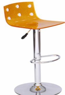 Ghế xoay trong quán bar màu cam