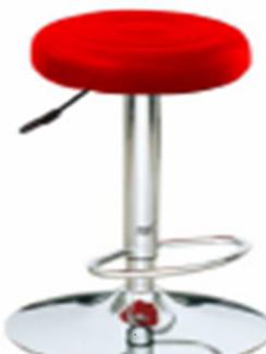 Ghế inox có mặt tròn màu đỏ bọc nệm