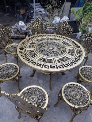 Bàn ghế nhôm cổ điển cao cấp