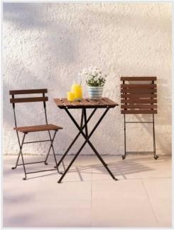 Bàn ghế xếp chân sắt cafe