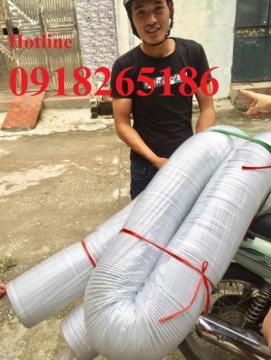 Ống co giãn đàn hồi hút bụi, ống đàn hồi thông gió, ống gió bụi trắng, ống hút bụi vải Simili giá rẻ
