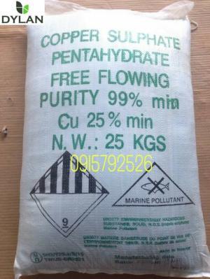 CuSO4 - Đồng Sulphate (Copper Sulphate) Đài Loan phân phối bởi công ty DYLAN