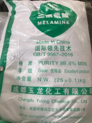 Melamine 99.8% nguyên liệu cho các loại keo dán gỗ, keo dán giấy, keo dán công nghiệp
