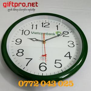 đồng hồ treo tường vietcombank giá rẽ