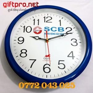 đồng hồ treo tường ngân hàng scb làm quà tặng