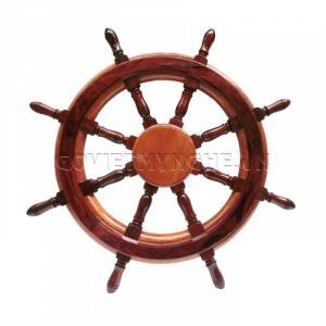 Vô lăng tàu gỗ trang trí, vô lăng tàu gỗ treo tường, bánh lái tàu gỗ treo tường