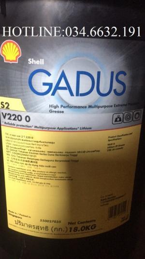 Mỡ Shell GADUS S2 V220 0 xô 18Kg