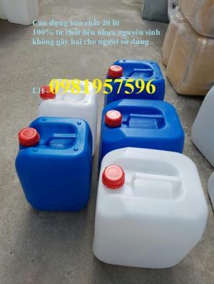Can nhựa 20 lít đựng hóa chất, phụ gia trong công nghiệp