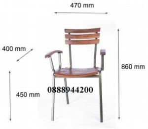 Thanh lý bàn ghế cafe giá rẻ, bộ bàn ghế cafe Fansipan có tay-mn
