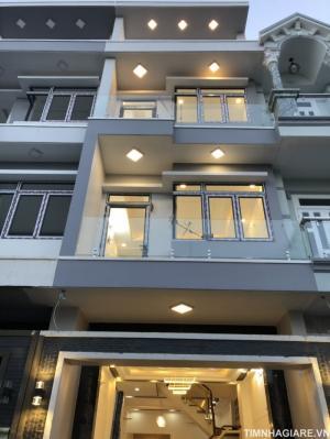 Nhà mặt tiền hẻm 67/55 Đào Tông Nguyên, Thị trấn Nhà Bè, Tp.HCM. DT 4m x13m, 3 lầu 4PN