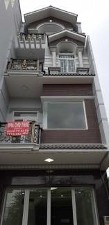 Nhà mặt tiền mới xây 1 trệt 2 lầu cho thuê giá rẻ để làm công ty, văn phòng. Mr Định 0909999339