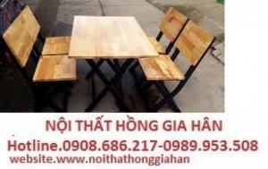 Ghế gỗ quán nhậu giá rẻ nhất hghi03