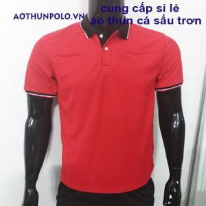 cung cấp sỉ lẻ áo thun đỏ cổ đen giá rẽ