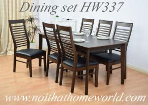 Bộ bàn ăn 6 ghế gỗ bàn dài 1m65- Hàng xuất khẩu