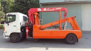 Xe cứu hộ giao thông Hino FC gắn cẩu Unic V340 3 tấn