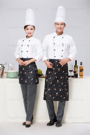 Địa chỉ may đồng phục đầu bếp nhiều mẫu mã, chất liệu tùy chọn theo nhu cầu