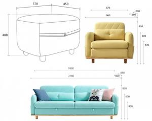 Sofa phòng khách hiện đại HT12.04 (Giảm 30% tặng kèm 03 gối ôm)