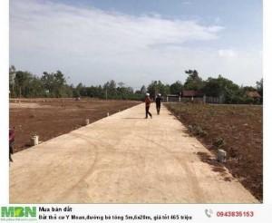 Đất thổ cư Y Moan,đường bê tông 5m,5x22m