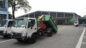 Xe chở rác Hino Dutro 342L 6 khối