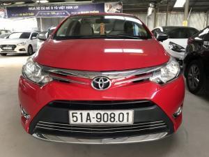 Bán Toyota VIOS E 1.5MT màu đỏ đô số sàn sản xuất 2014 biển Sài Gòn mẫu mới
