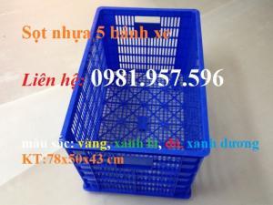 Sọt nhựa 5 bánh xe, sọt nhựa có bánh xe tại Hà Nội