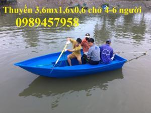 Thuyền câu cá chèo tay 3,2x0,9x0,36m, 4mx1,1x0,36m giá rẻ nhất Hà Nội mới 100%