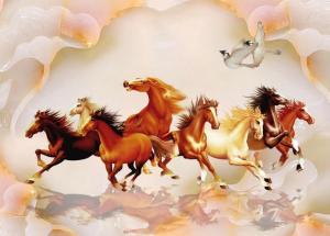 Tranh con ngựa ngọc 3d- gạch tranh trang trí