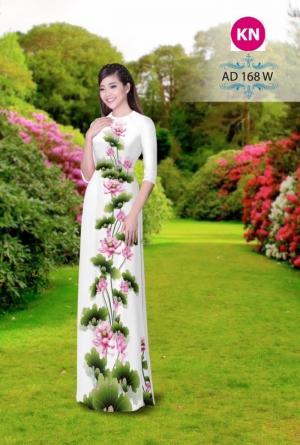 Vải áo dài đẹp in 3D 168