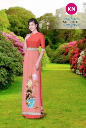 Vải áo dài đẹp in 3D 170