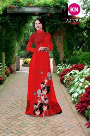 Vải áo dài đẹp in 3D 179