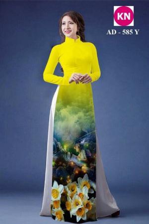 Vải áo dài đẹp in 3D