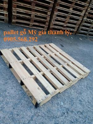 Pallet gỗ thông Mỹ 1200x1060x115mm bán tại Nha trang Khánh Hòa, Bình Định