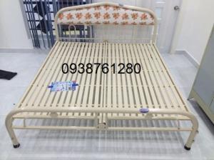 Giường sắt đơn Duy Phương ngang 1m4 dài 2m mới 100%
