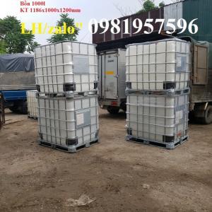 Tank nhựa đựng hóa chất công nghiệp, tank IBC 1000 L