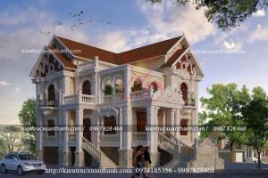 Thiết kế biệt thự 2 tầng tân cổ điển siêu đẹp
