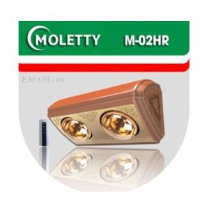 Đèn sưởi Moletty 2 bóng điều khiển từ xa M-02HR