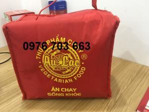 Công Ty Alpha chuyên may túi giữ nhiệt và in logo trên túi giữ nhiệt