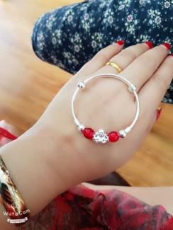 Lắc tay bạc dành cho nữ xinh xắn
