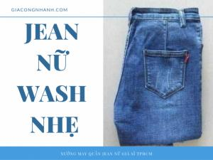 Quần jean nữ wash nhẹ - NK-5003