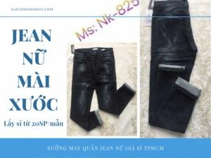 Quần jean nữ mài xước - NK825