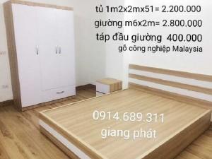 Giường gỗ công nghiệp chống ẩm