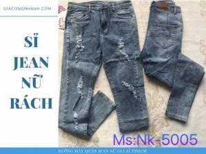 Quần jean nữ rách - NK-5005