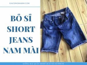 Quần sọt Jean nam
