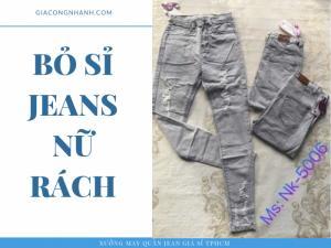 Quần Jean màu xám tro nữ - MK-5006