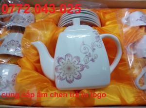 bộ ấm chén trà bình vuông giá rẽ