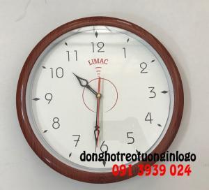 Đồng hồ treo tường hình tròn 30 cm, đồng hồ in logo theo yêu cầu