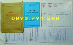 Bán hồ sơ cán bộ công chức, viên chức có dấu tròn của bộ nội vụ  mẫu B06 bnv/2008 ban hành
