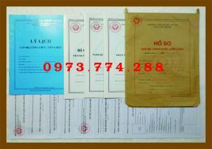 Hồ sơ cán bộ, công chức, viên chức (Mẫu B06...