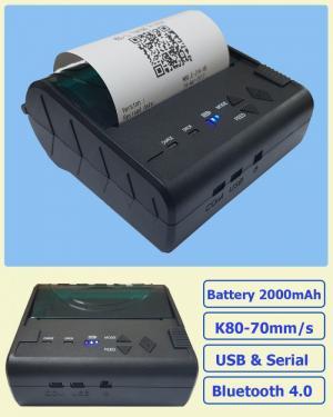 Máy In Bill Bluetooth Mini Printer POS-8003DD